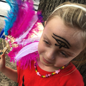 Egyptian Feather Fan Craft