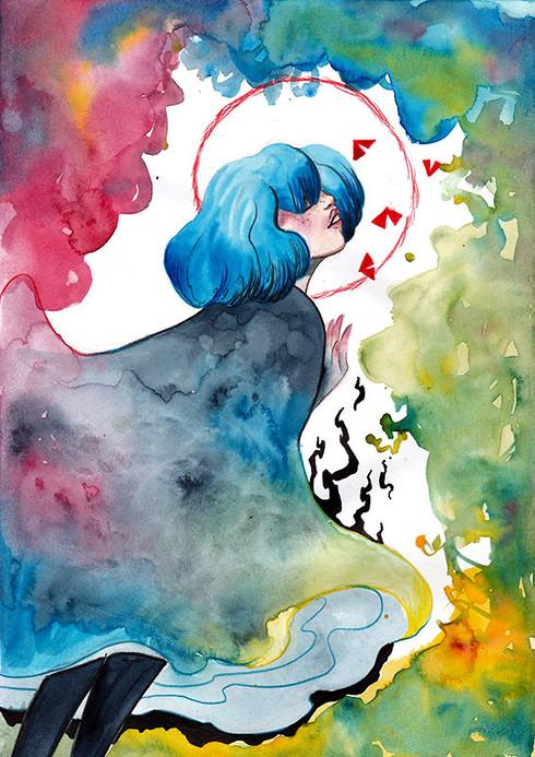Gris watercolor