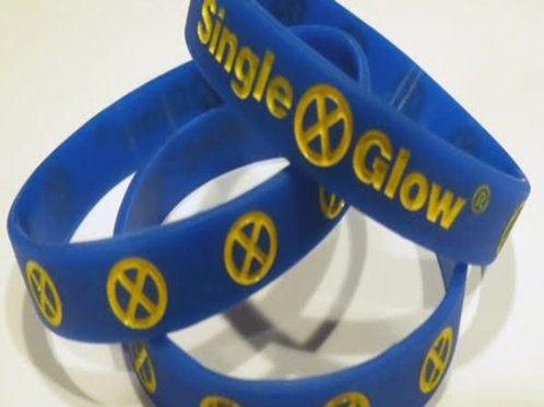 Glow in Dark - Cobalt Blue with Yellow Print