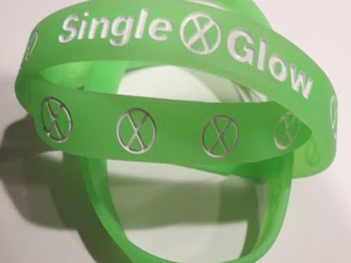 Glow in the Dark - Lime Green with White Print