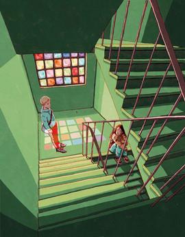 Im Treppenhaus LuiseMirdita