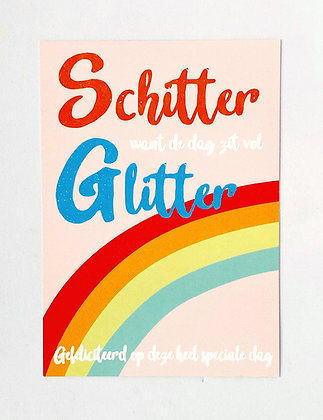 Card + envelop 'Schitter'