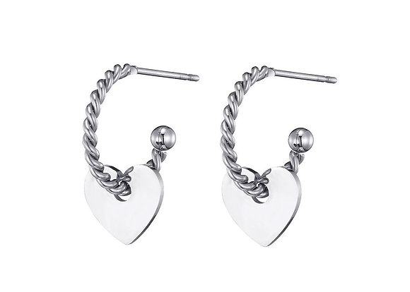 Earring Hart silver