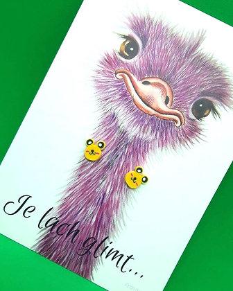 Kids earrings 'cute yellow bear'