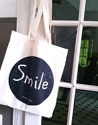 Totebag naturel 'Smile'