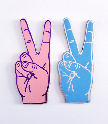 Magnet leather 'Peace'