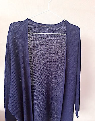 Dark blue knitted cardigan Only size L