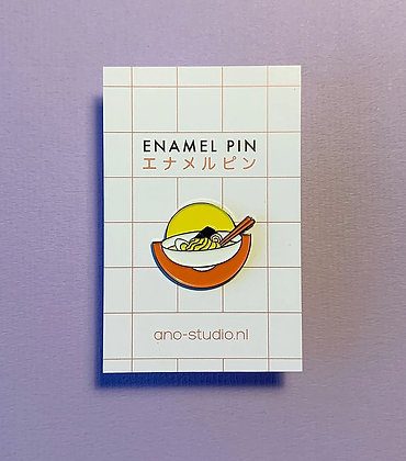 Ramen bowl enamel pin