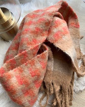Sjaal mix oranje-bruin