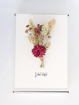 Flower card 'Veel liefs'