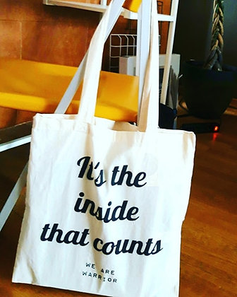 Totebag 'It's the inside that counts'