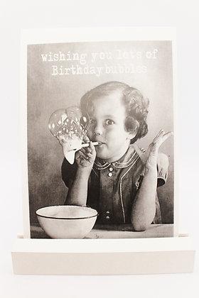 Kaart + envelop 'Birthday bubbles'
