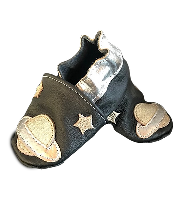 Baby shoes Silver space