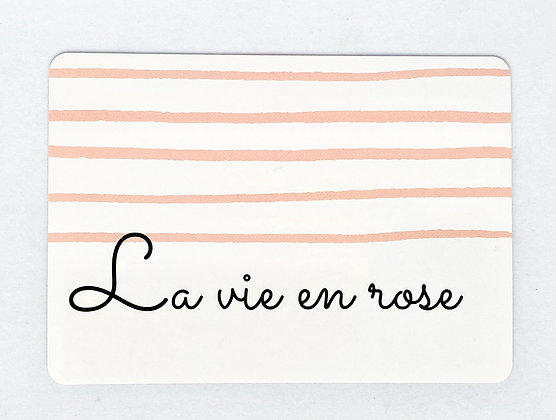 Card 'La vie en rose'