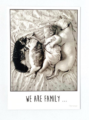 Card + envelop 'We are family'