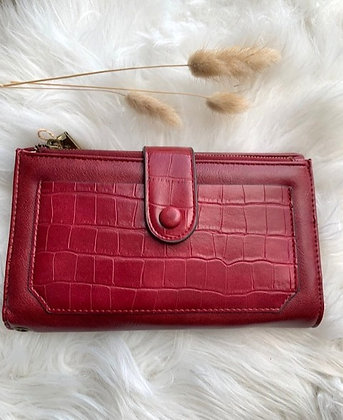 Vegan wallet red