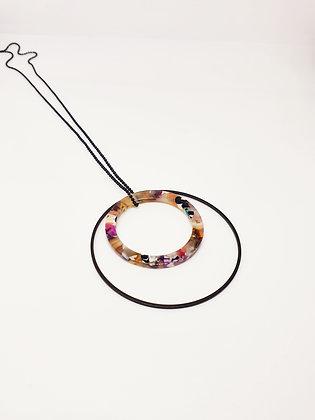 Necklace Colourful Raisin black