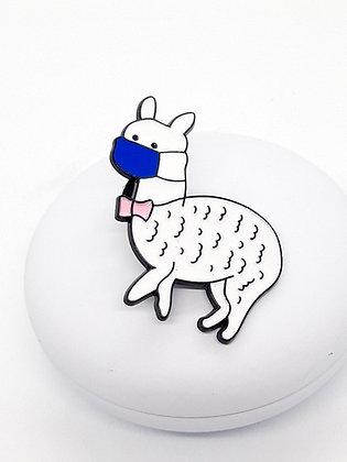 Pin white lama