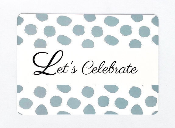 Card 'Let's celebrate'