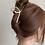 Thumbnail: Hair clip/claw in lus vorm goud/zilver
