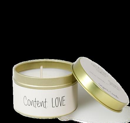Geurkaarsje small 'Content Love'