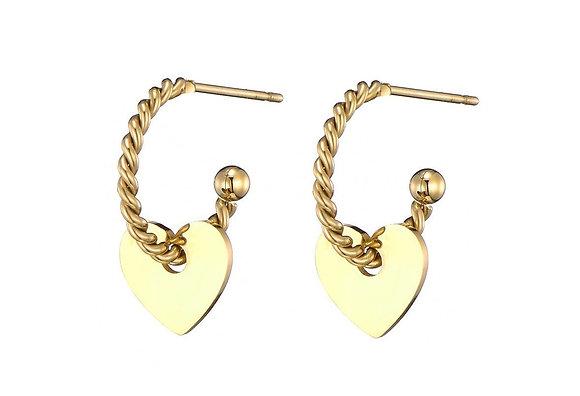 Earring hart gold