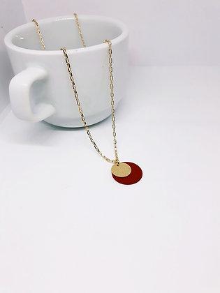 MADEBYMIE Necklace gold/dark red