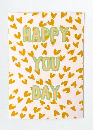 Card + envelop 'Happy you day'