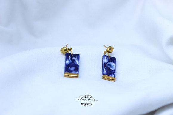 Porcelain earringsClouds