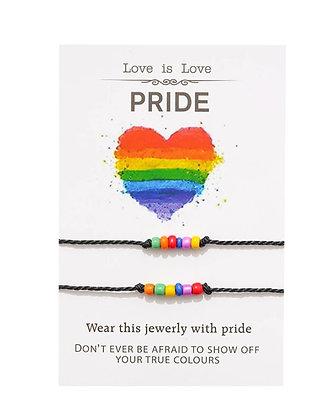 Pride armbandjes setje van 2