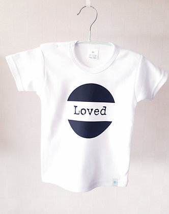 T-shirt baby 'Loved'