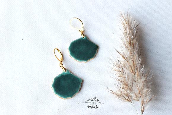 Porcelain earrings Ginkgo