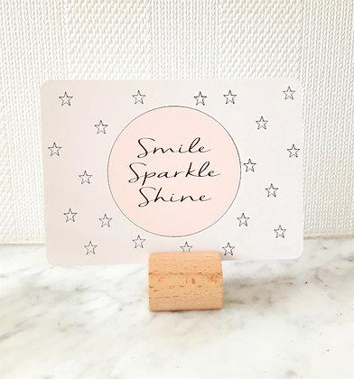 Luxe card 'Smile Sparkle Shine'