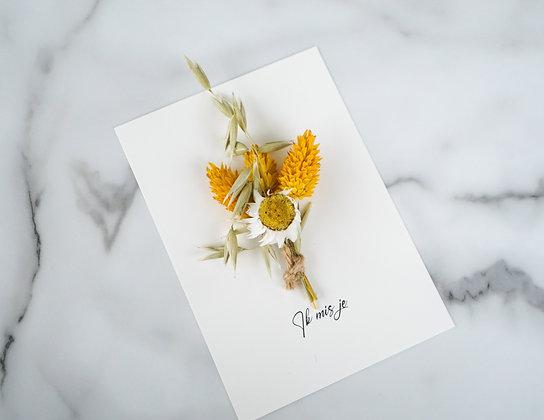 Flowercard 'Ik mis je'