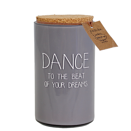 Soya candle 'Dance to the beat of your dreams'