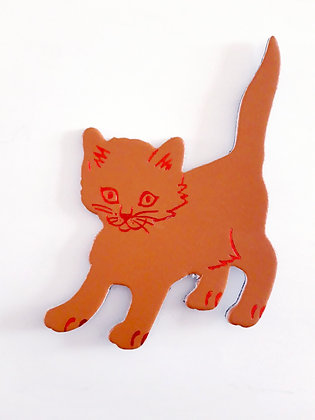 Magnet Cat in leather