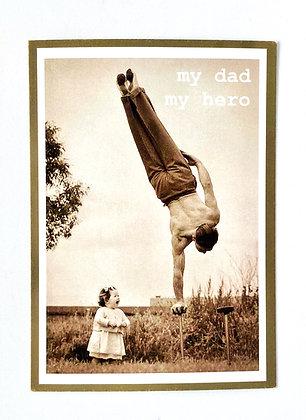 Postcard + envelop 'My dad, my hero'