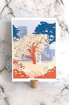 Mini print A4 'Blossom'