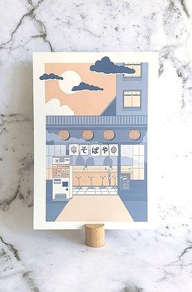 Mini print A4 'Soba Ya'