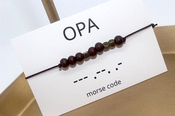 Bracelet morsecode OPA