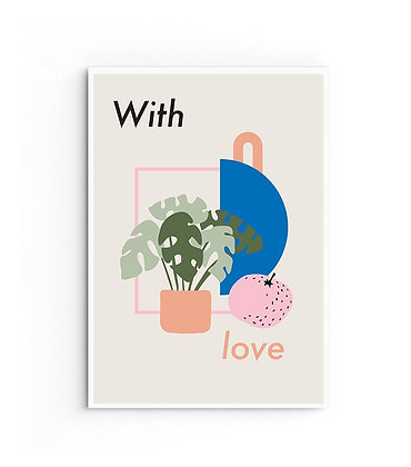 Card 'With love'