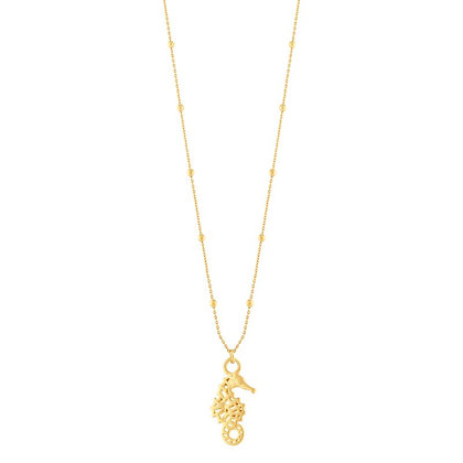 Necklace sea horse gold 90cm
