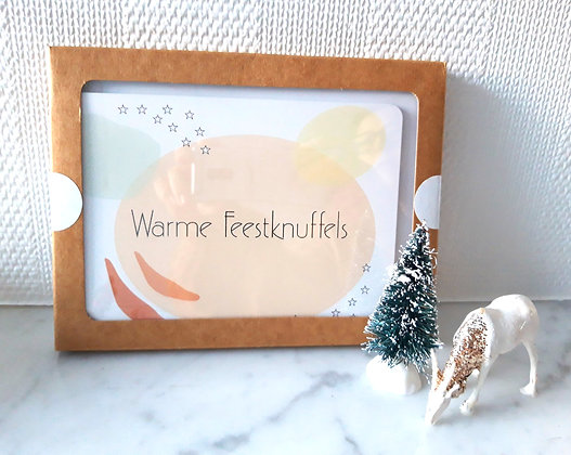 Kerstpakket 6 kaarten + envelop