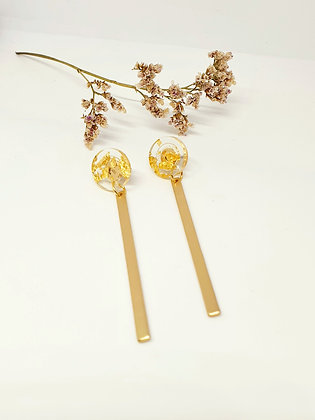 Earrings 'Golden sparkles' staafje
