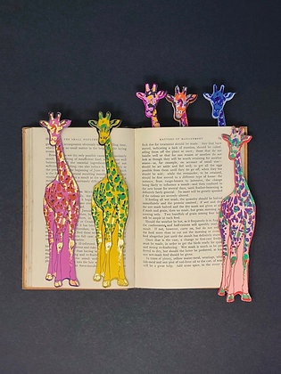 Pageturner leather 'Giraffe