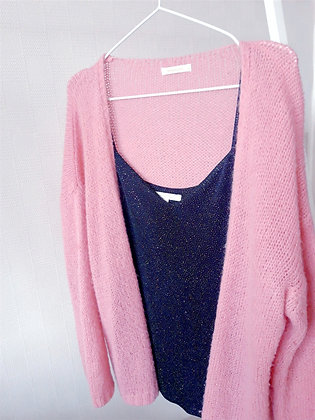 Knitted cardigan Pink Mika Ellis One size
