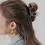 Thumbnail: Hair clip/claw in lus vorm bruin/beige/transparant