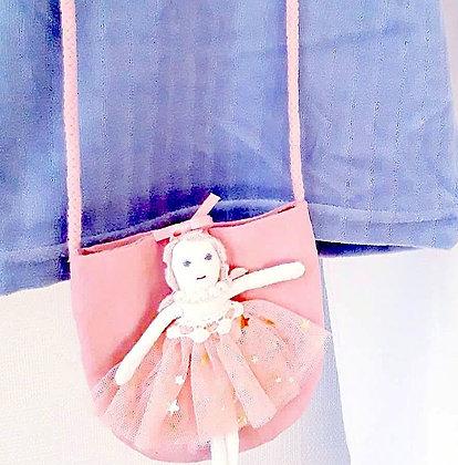 Kids handtasje Mss pearls pink