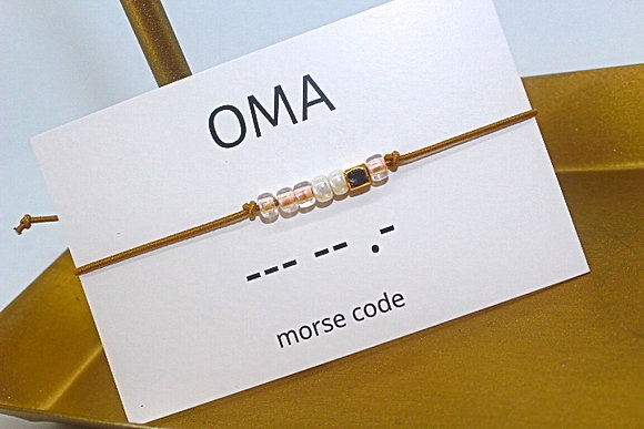 Bracelet morsecode OMA