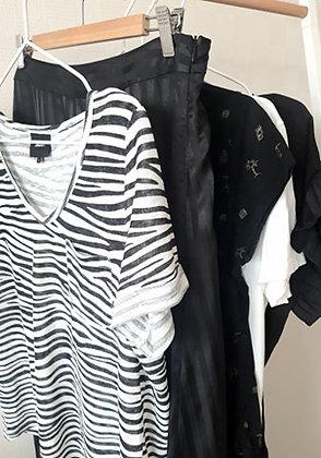 T-shirt Black&white Object Size L